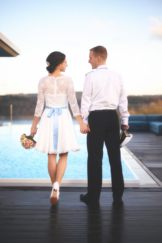 Hochzeitsfoto auf dem Dach des Hotels Seegarten